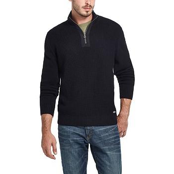 Weatherproof Vintage Men's Waffle Texture 1/4 Zip Sweater