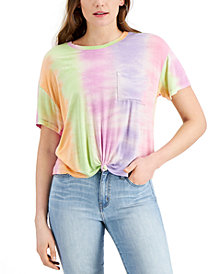 Self Esteem Juniors' Tie-Dyed Front-Knot T-Shirt