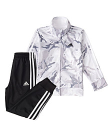adidas Baby Boys Zip Front Camo Tricot Jacket and Jogger Pants Set