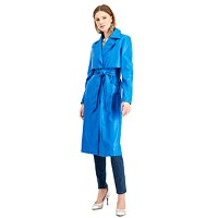 INC Faux-Leather Trench Coat