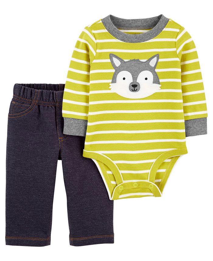 Carter's - Carters Baby Boy 2-Piece Husky Bodysuit Pant Set