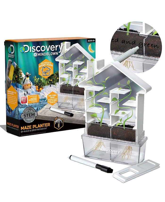 Discovery #MINDBLOWN - Kids DIY Maze Planter