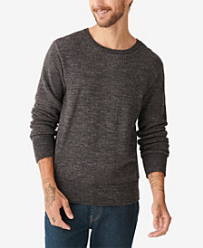 Lucky Brand Men's Plaited Crew Sweater