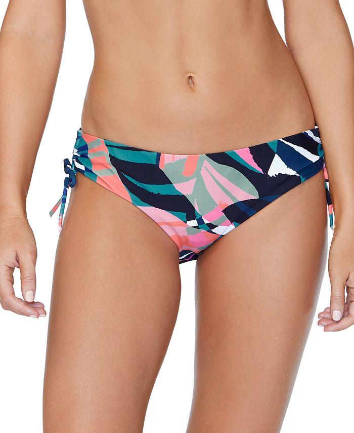 Raisins - Juniors' Crystal Cove Printed Drawstring Bikini Bottoms