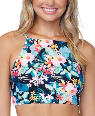 Juniors' Coconut Grove High-Neck Bikini Top