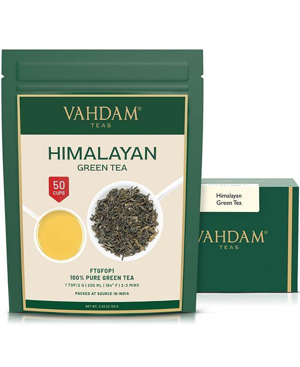 Vahdam Teas Green Tea Leaves From Himalayas, 100% Natural Detox Tea 50 Servings