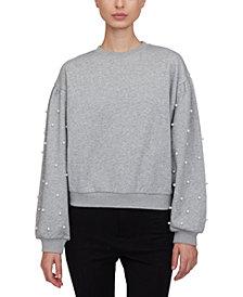 Lucy Paris Imitation-Pearl-Embellished Sweatshirt