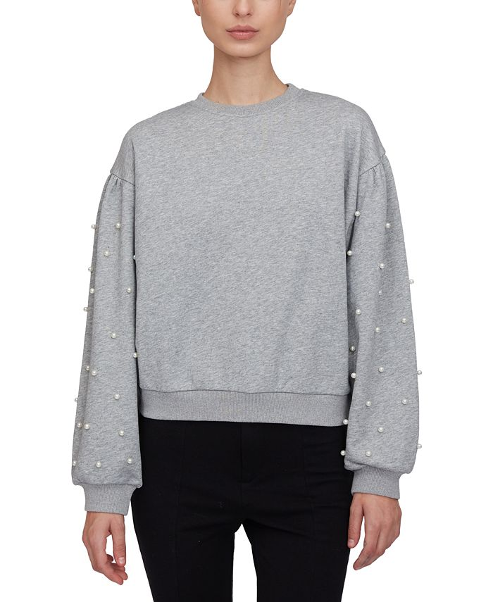 Lucy Paris - Imitation-Pearl-Embellished Sweatshirt
