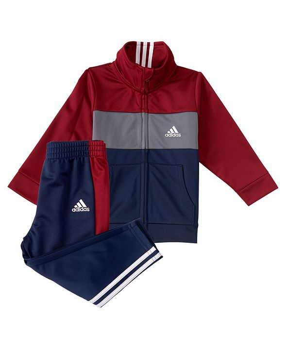 adidas Baby Boys Zip Front Tricot Jacket and Pants Set