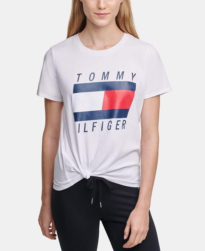 Tommy Hilfiger - Logo Knot-Front T-Shirt