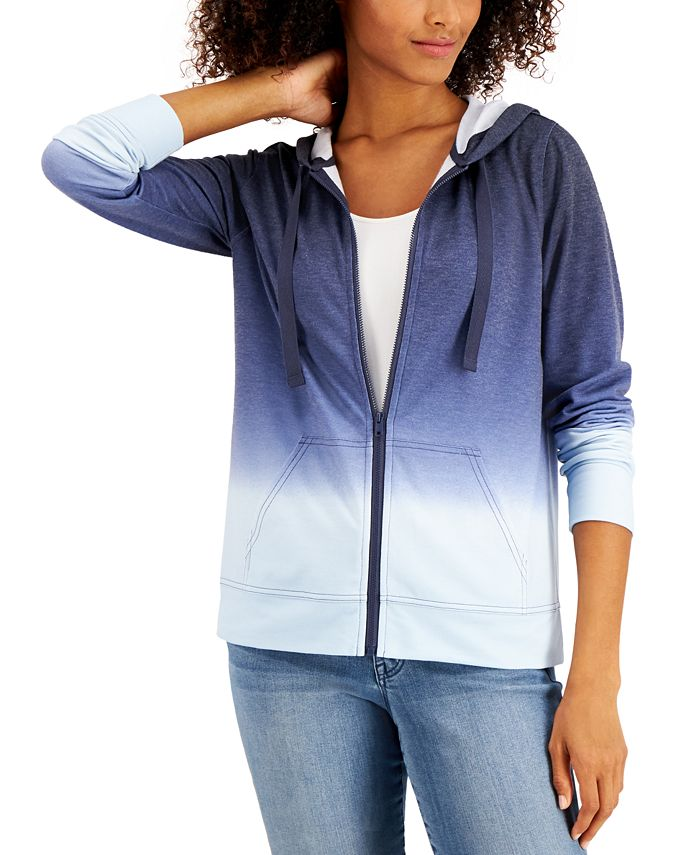 Style & Co - Ombré Zip Hoodie
