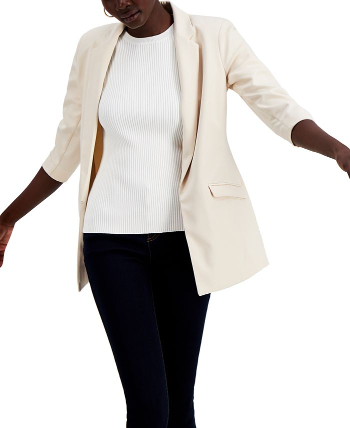 INC International Concepts - 3/4-Sleeve Blazer, Created for Macy's