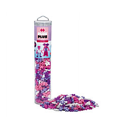 Plus-Plus - 240 Piece Glitter Mix - Open Play Tube - Construction Building Steam Toy