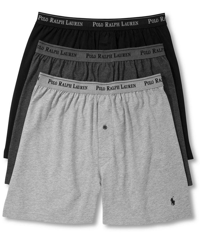 Polo Ralph Lauren - Men's 3-Pk. Cotton Classic Knit Boxers