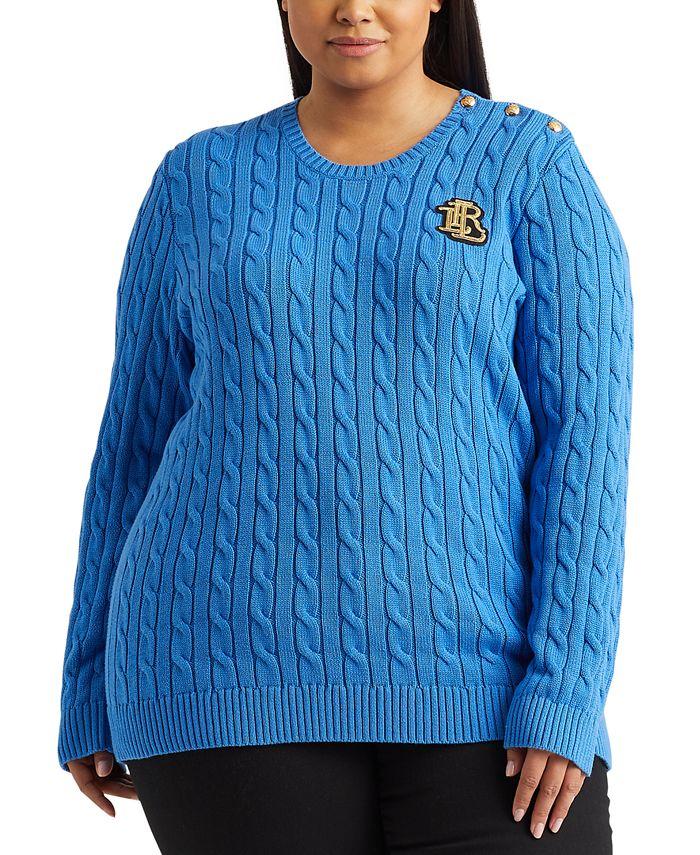 Lauren Ralph Lauren - Plus Size Cable-Knit Sweater