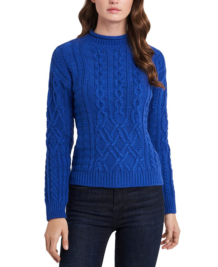 Riley & Rae - Mock-Neck Cable-Knit Sweater