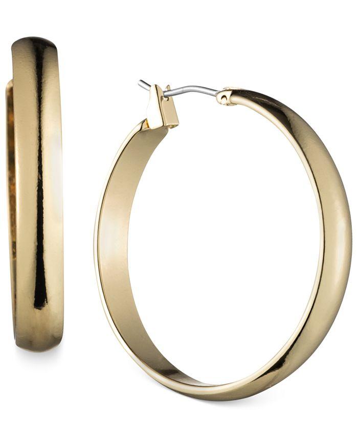 Anne Klein - Gold-Tone Wide Hoop Earrings
