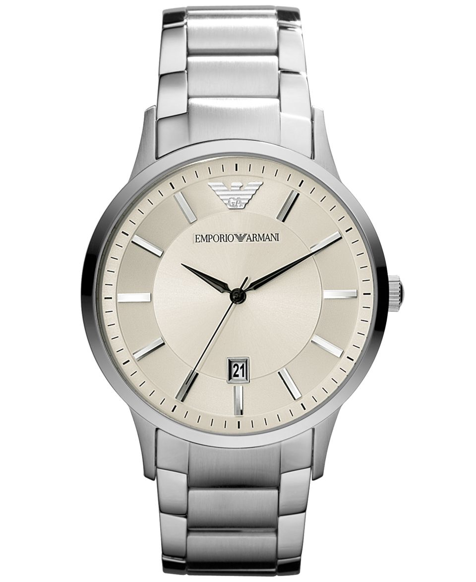 Emporio Armani Watch, Mens Chronograph Stainless Steel Bracelet 43mm AR2458   Watches   Jewelry & Watches