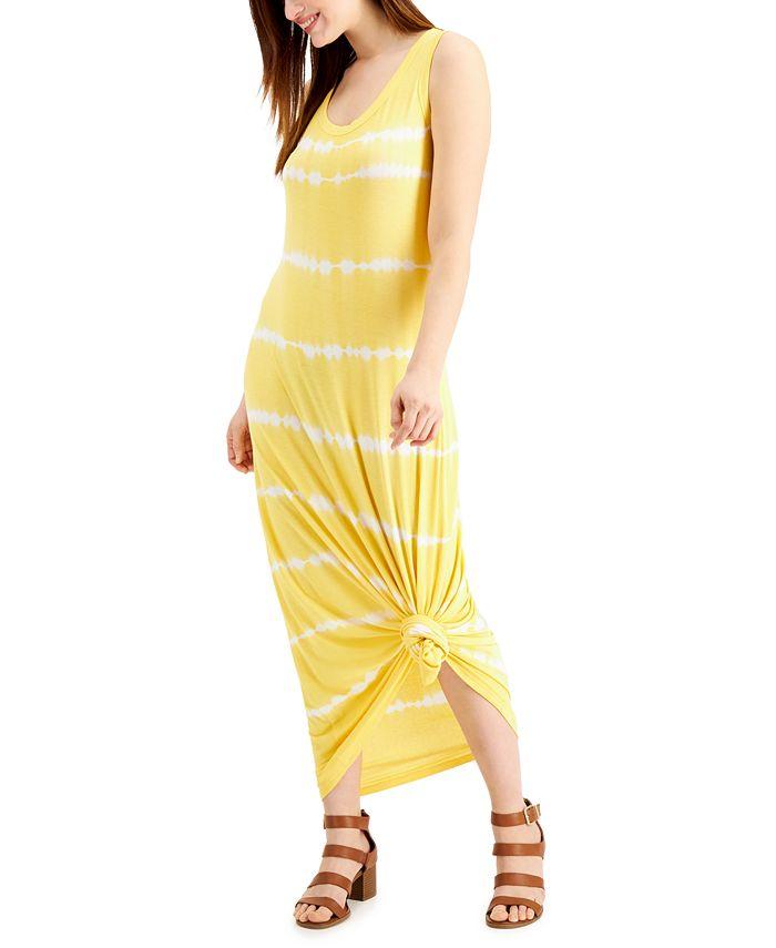 Style & Co - Tie-Dyed Sleeveless Maxi Dress