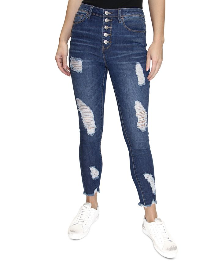 Almost Famous - Juniors' Ripped Skinny Jeans