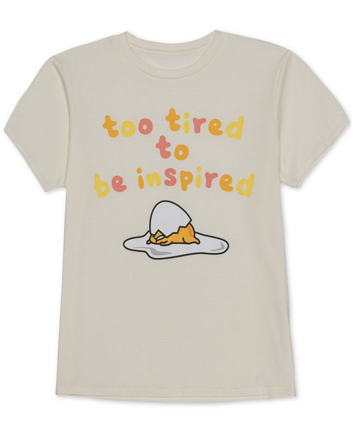 Love Tribe - Juniors' Too Tired Graphic T-Shirt