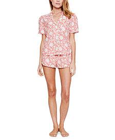 Reverie Ellie Satin Printed Shorts Pajama Set