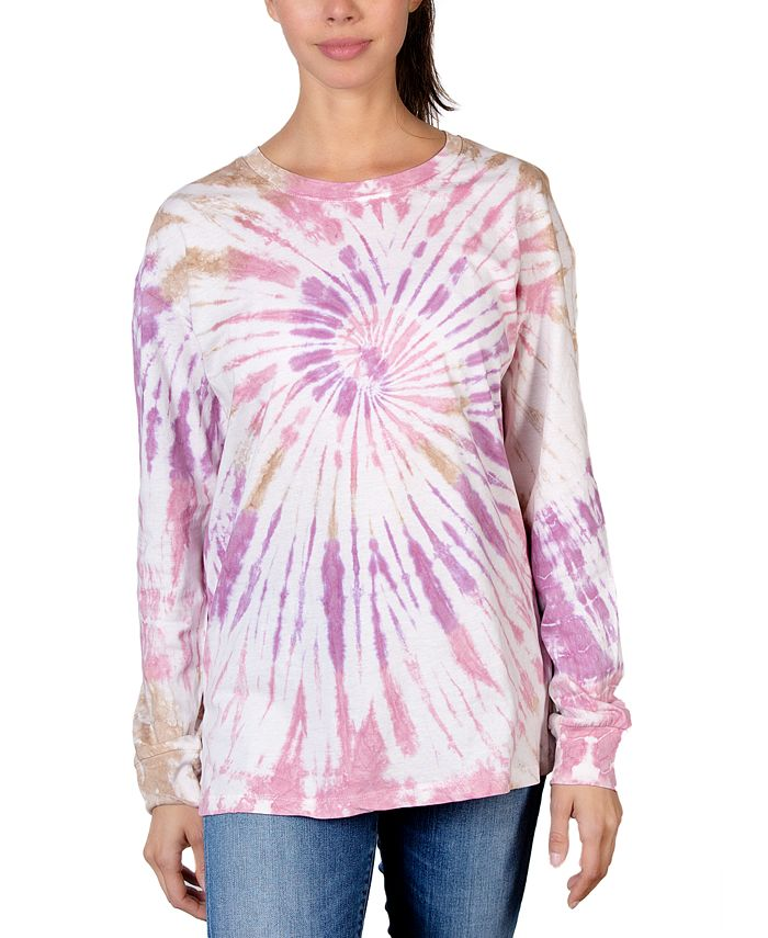 Rebellious One - Juniors' Cotton Swirl Tie-Dyed Top