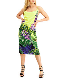 GUESS Printed Cowl-Neck Dress