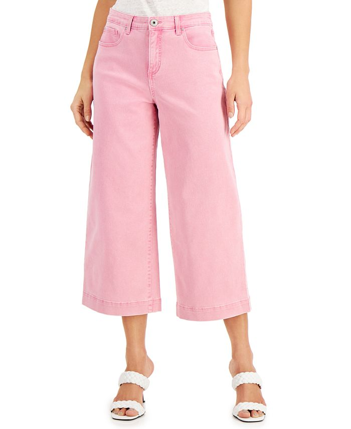 INC International Concepts - Millicent Pink Wide-Leg Jeans