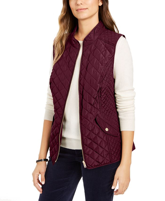 Charter Club - Quilted Stand-Collar Vest, Created for Macy's