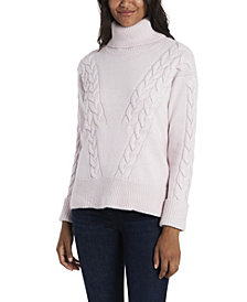 Vince Camuto Women's Cable Stitch Turtleneck Sweater