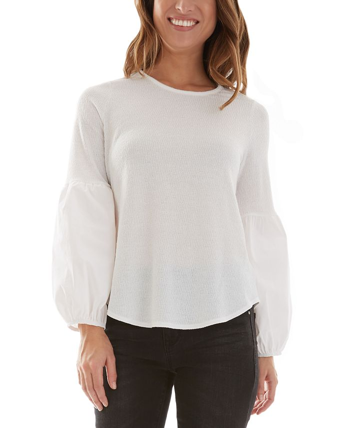 BCX - Lantern-Sleeve Top