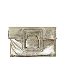 TMRW Studio Women's Mateo Fold over Clutch with Crossbody Strap