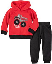 Kids Headquarters Little Boys 2-Piece Dump Truck Fleece Top with Fleece Pant Set