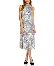 Adrianna Papell Bow-Back Halter Midi Dress