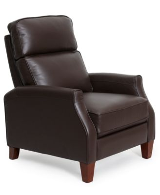 Enzo Leather Recliner Chair Furniture Macy s