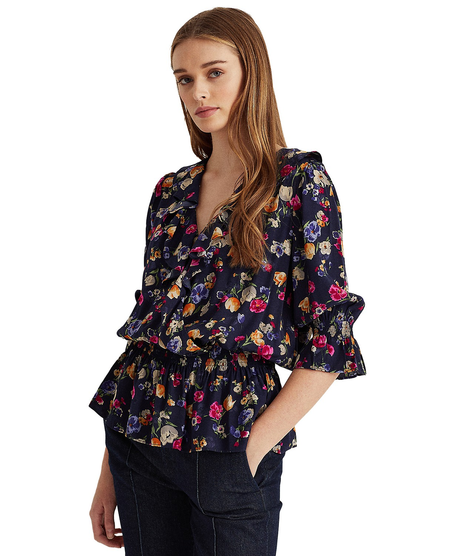 Lauren Ralph Lauren Floral Peplum Blouse