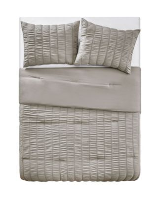 Billie Seersucker Stripe 3 Piece Comforter Set, King