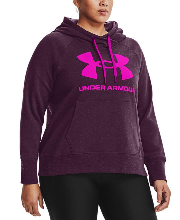 Under Armour - Plus Size UA Rival Fleece Logo Hoodie