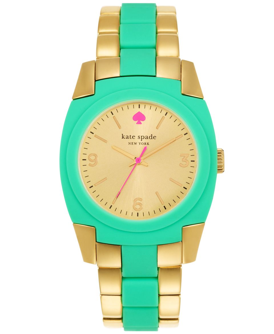 kate spade new york Watch, Womens Skyline Pink Silicone and Gold Tone Stainless Steel Bracelet 36mm 1YRU0163   Watches   Jewelry & Watches