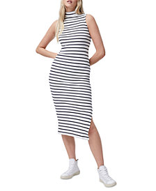 French Connection Tommy Striped Sleeveless Midi Dress