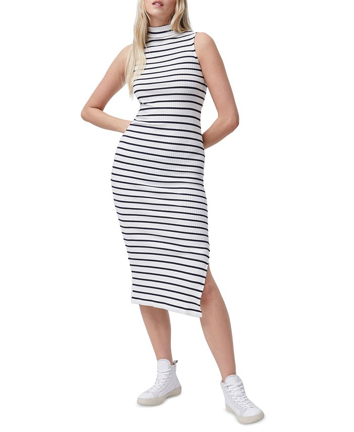 French Connection - Tommy Striped Sleeveless Midi Dress