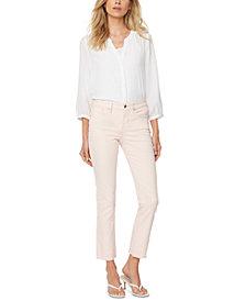 NYDJ Slim-Fit Sheri Straight-Leg Raw-Hem Ankle Jeans