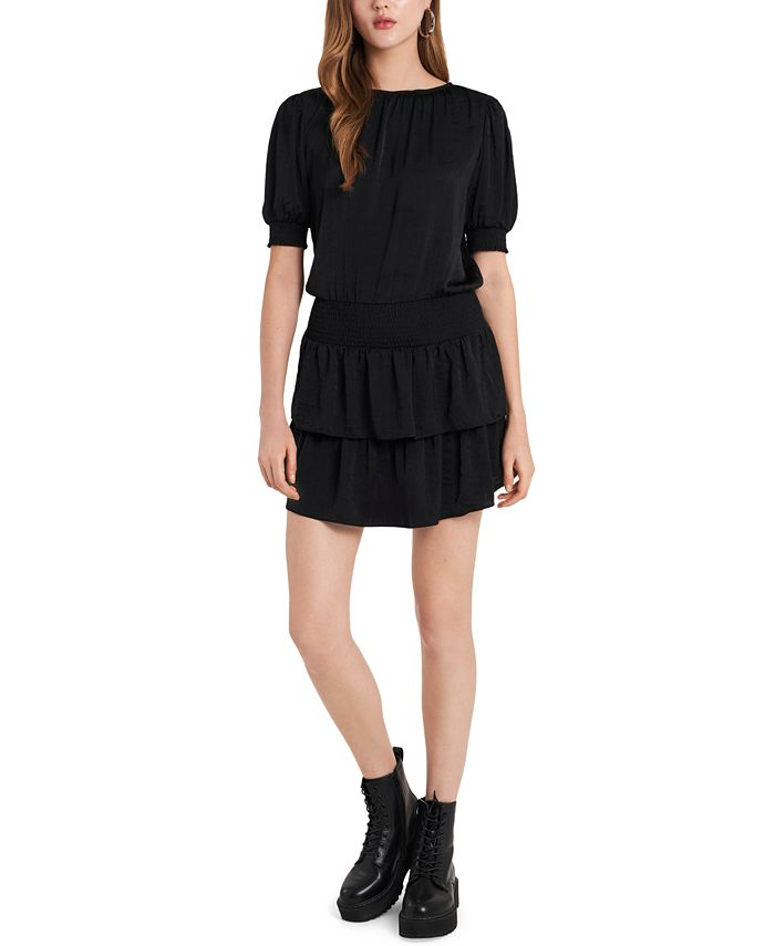 1.STATE - Smocked Tiered Ruffle Dress