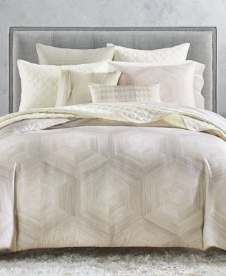 Luster Geo King Coverlet, Created for Macy's
