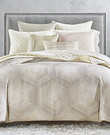 Hotel Collection Luster Geo King Duvet, Created for Macy's