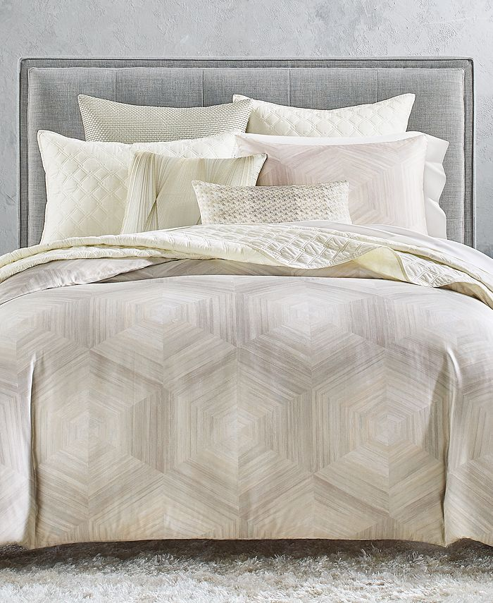Hotel Collection - Luster Geo Duvet, Created for Macy's