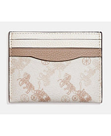 COACH Horse and Carriage Coated Canvas Flat Card Case