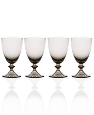 Closeout! Mikasa Set of 4 Ridgefield Smoke Goblets