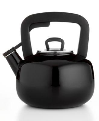 CLOSEOUT! Martha Stewart Collection Enameled Steel 2.5 Qt. Tea Kettle